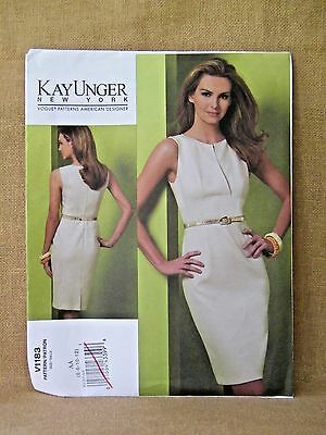 VOGUE PATTERN 1183  EASY DRESS NEW YORK  DESIGNER  MISSES SIZES 6 8 10 12 UNCUT