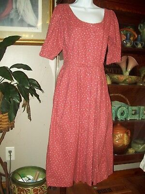 Vintage Calico Civil War Pioneer Costume size S Titanic Music Man, Work Dress