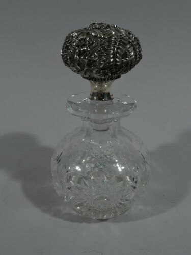 Armiger Perfume - Antique Baltimore Bottle - American Cut Glass Sterling Silver