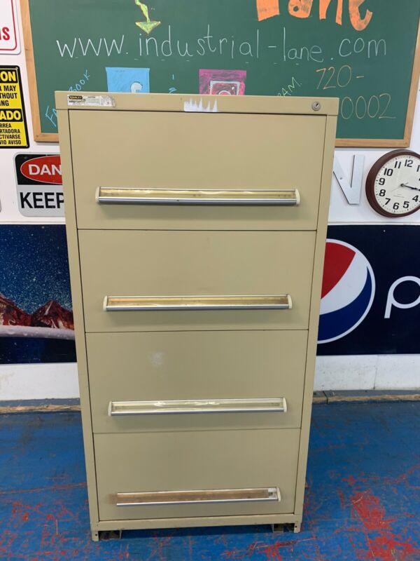 "Stanley Vidmar Tool Storage Cabinet - 30"" Wide, 4 Drawers"