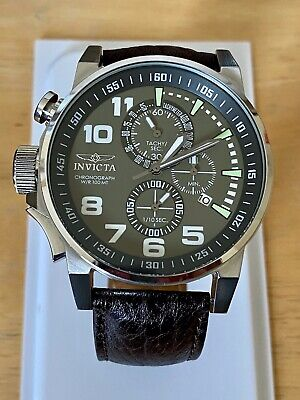 INVICTA I-FORCE Quartz Unisex Watch - Stainless Steel Leather Band - Model 13054