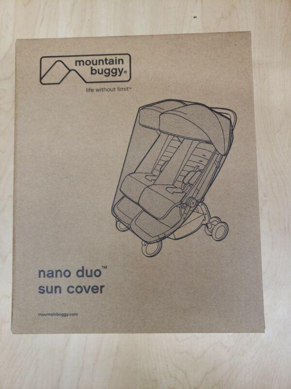 Mountain Buggy Nano Duo Stroller Black Mesh Sun Cover Baby