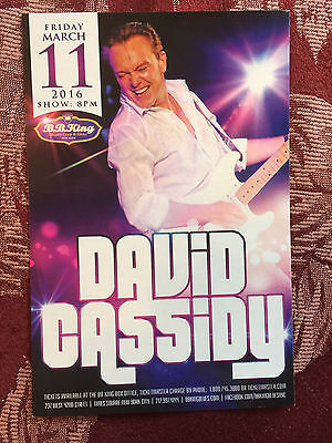 David Cassidy the Patridge Family /Air Supply  ad/flyer  NYC BB.Kings concert 1