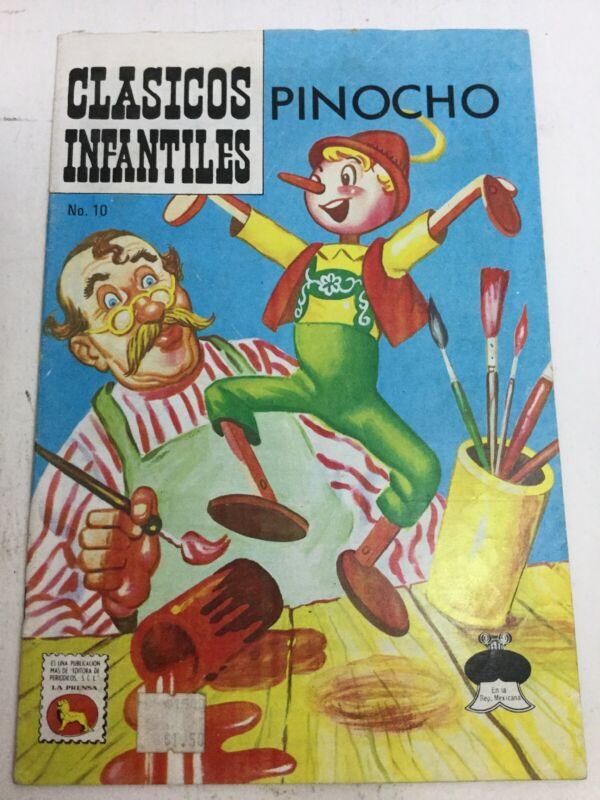 1974 SPANISH COMICS CLASICOS INFANTILES #10 PINOCHO PINOCCHIO LA PRENSA MEXICO