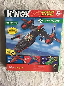 K'nex Spy Plane #3 of 4 in the Air action series New in box