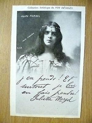 POSTCARDS of THEATRE & OPERA STARS: JULIETTE MARGEL by Vin Desiles