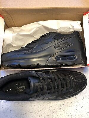 nike air max 90 triple black/ leather mesh/bundle sizes 6-11