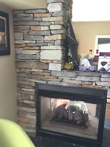 Lennox 3-Sided Natural Gas Fireplace