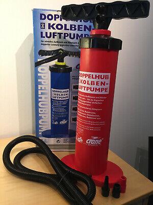 Doppelhub - Kolben - Luftpumpe Pumpe Crane Sports Royalbeach  1.0 Bar Druck neu