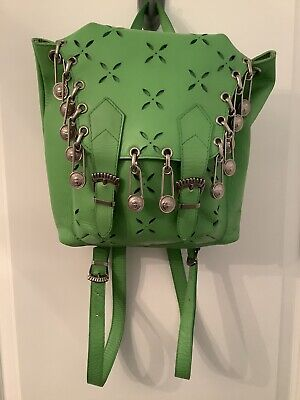 Vintage Gianni Versace Couture Medusa Safety Pin Backpack