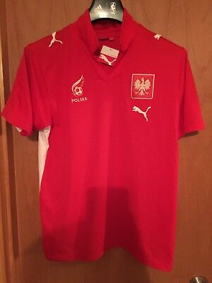Puma Polska Poland National Soccer Team Jersey 2007 09 Red U S Mens Medium  80