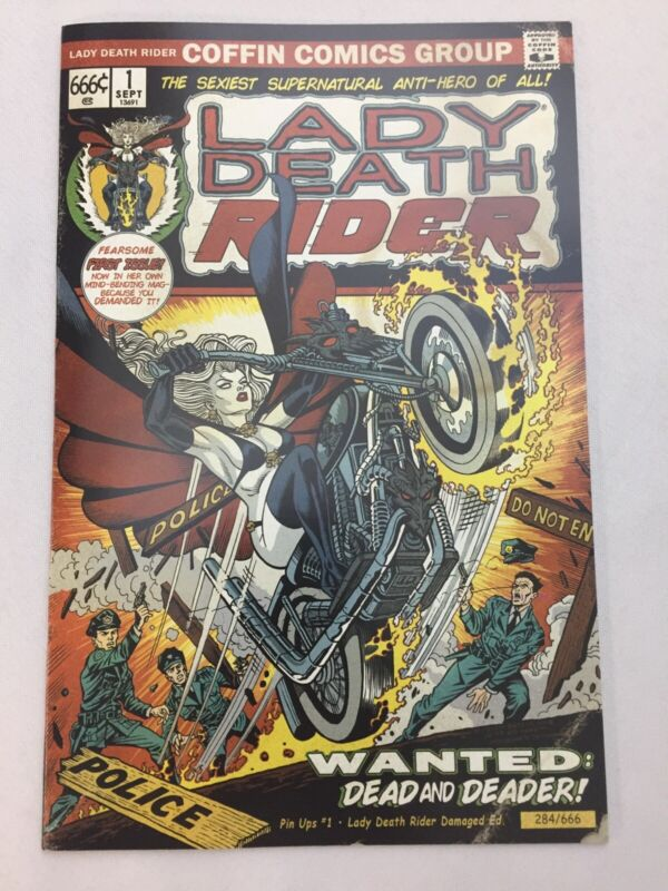 Lady Death Pin Ups #1 Lady Death Rider Limited Cover by Steven Butler Key NM+