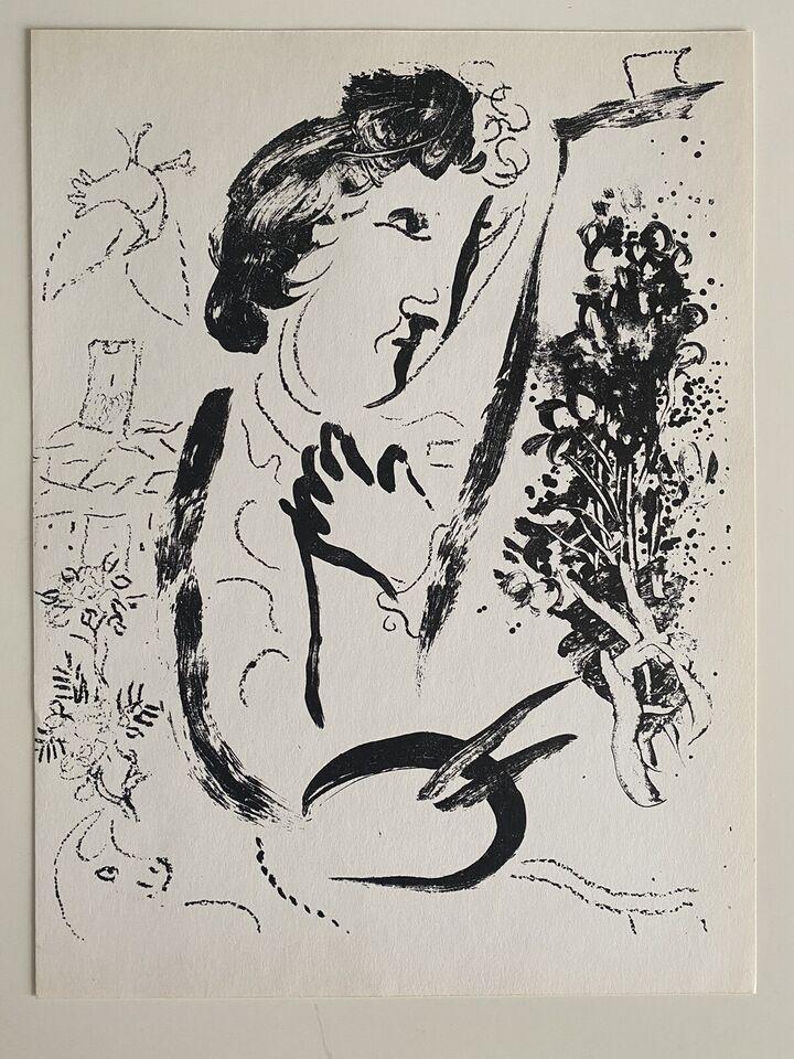 Original Marc Chagall Lithographie 1963 M402 Expertise in Baden-Württemberg - Neuhausen