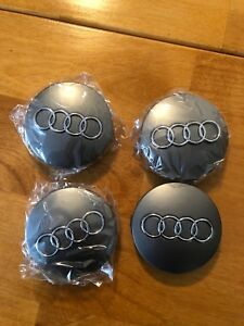 OEM 60mm AUDI CENTRE HUBCAPS
