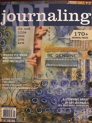 Stampington Art Journaling Magazine Summer 2019 170 + Pgs Watercolors Metallics