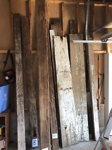 Variety of reclaimed barn boards and beams