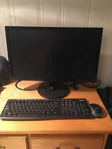 Monitor and wireless keyboard/mouse