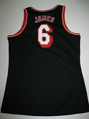 Lebron James Miami Heat Black Hardwood Nights Women's Large Replica Jersey Replica Miami Heat Jersey