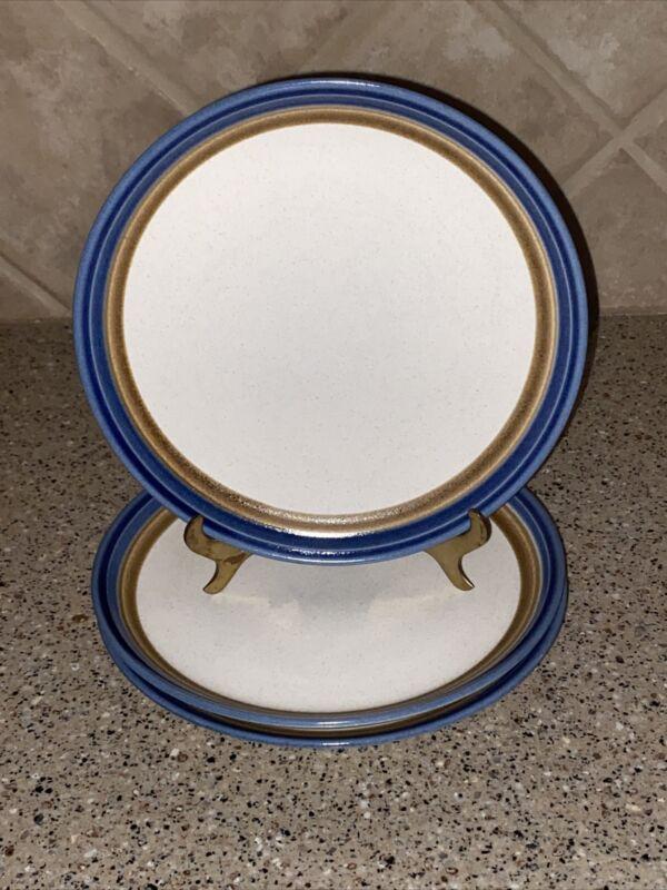 """MIKASA~Craft Stone~""""BLUE HILL""""~Salad plates~Set of 3~8""""~MINT!"""