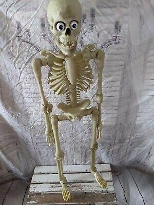 """35"""" Gemmy talking animated skeleton 3 ft large Halloween prop lights"""