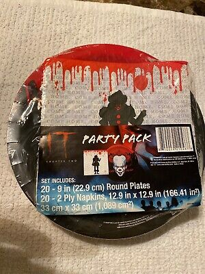 Halloween Party Movie 2019 (IT The Movie Halloween Birthday Party Pack For 20 Napkins Plates Pennywise)