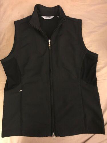 Callaway Women Golf Front Full Zipper Vest Jacket Black NEW Polyester Nylon