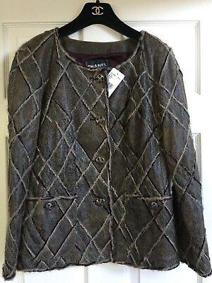 Chanel 13A PARIS-EDINBURGH NEW TAGS TWEED LAMBSKIN Jacket FR34-FR38 $12K