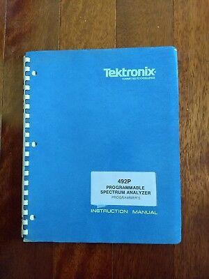 Tektronix Programmers Manual 492p Spectrum Analyzer Pn 070-3401-00