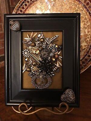 Angels Vases - vintage jewelry art, Christmas tree's, Angels, Flower vases, etc. framed