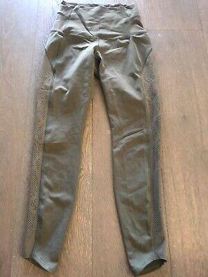 Lululemon Olive Green Mesh Legging Size 4
