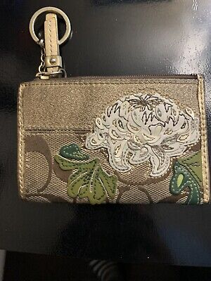 Coach Floral Coin Purse/Keychain-Pre-owned
