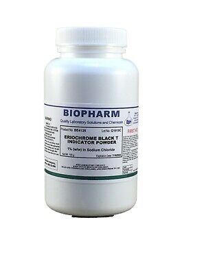 Eriochrome Black T Indicator Powder 1 Ww In Sodium Chloride 100 Grams