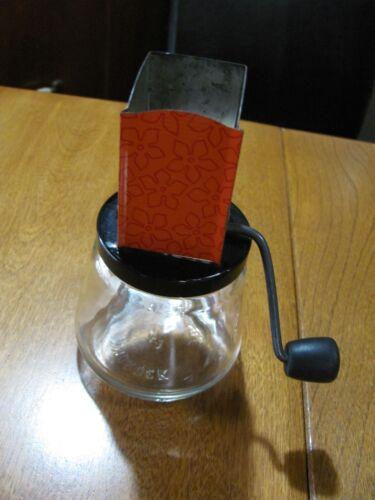 Vintage ANDROCK 49 Glass Nut Grinder Hand Crank Wood Handle Atomic