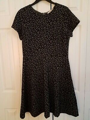 Ann Taylor Loft Womens Animal Leopard Print Fit and Flare Dress Stretchy Size 10