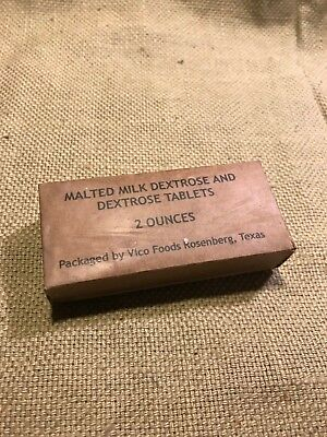 WWII US Army USMC K-Ration Malted dextrose tablet Box  for sale  Amesbury