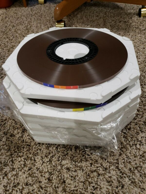 """6 PIECES Quantegy NEW OLD STOCK"""" Reel To Reel Pancake 1/4"""",1-632-17611,5x 456"""