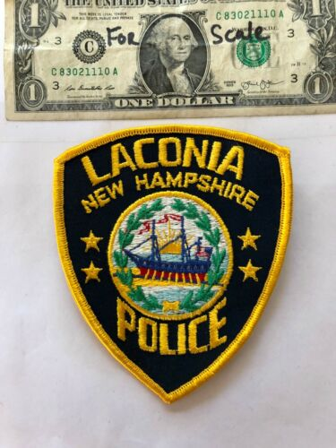 Laconia New Hampshire Police Patch un-sewn in mint shape