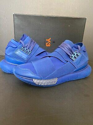 Men's Adidas Y-3 Qasa High Yohji Yamamoto S82124 Blue Sneaker Trainer Size 10