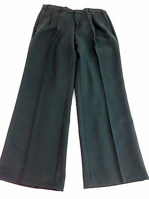 NWOT HABAND EXECUTIVE DIVISION MENS DARK SAGE GREEN DRESS PANTS SIZE 34 S