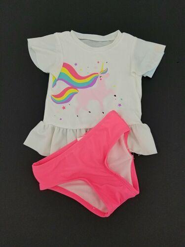 Cat & Jack Baby/Toddler Girls Unicorn Rash Guard Swim Set UPF 50+ 2T