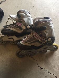 Rollerblades with free protective gear