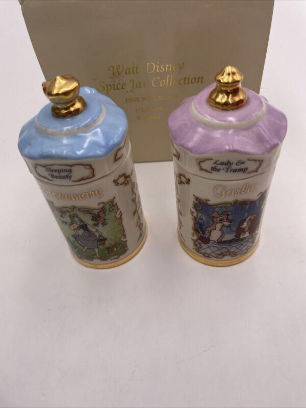 1995 Lenox Walt Disney Spice Jar Collection - Sleeping Beauty Rosemary Garlic