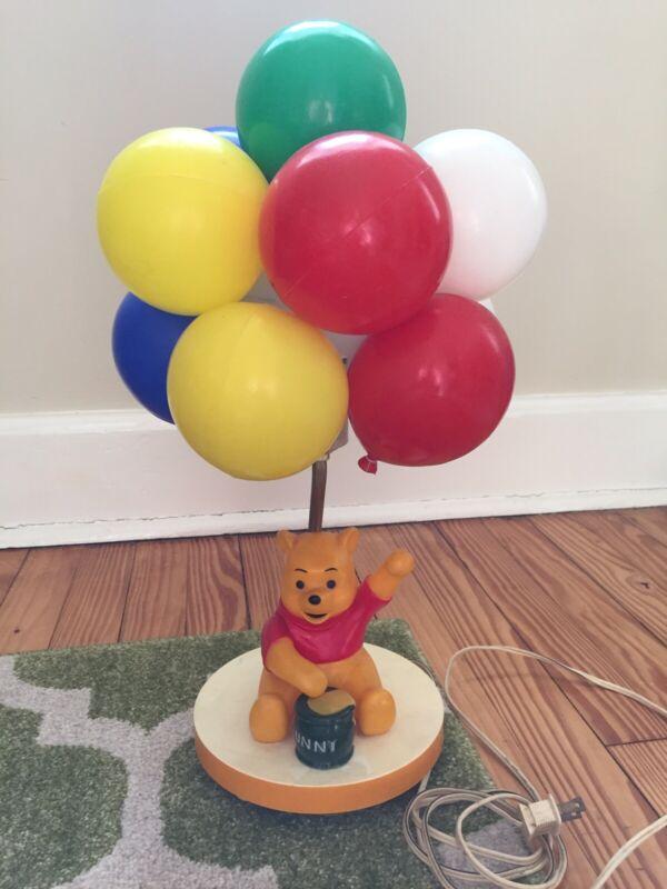 Vintage Disney Winnie The Pooh Balloons Hunny Pot Lamp Music Box Nursery