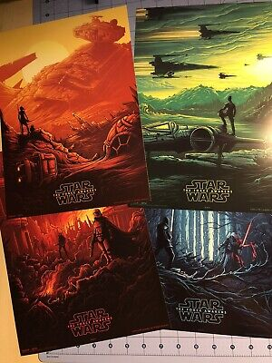 Star Wars Episode VII The Force Unleashed Prints (Set of 4) AMC THEATERS