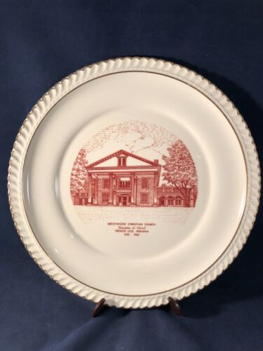 Vintage Beechwood Christian Church Plate French Lick, Indiana