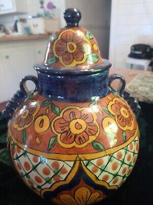 Talavera Ginger Jar 11x9 Inches Hecho Pottery Talavera Ginger Jar