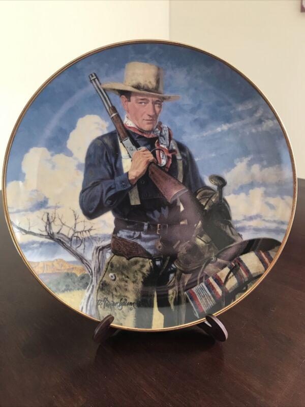 JOHN WAYNE Collector Plate 24K G Franklin Mint