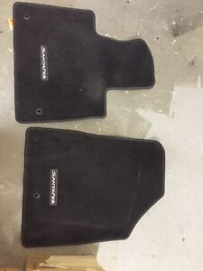 2014 Santa Fe Black Carpeted Floor Mats -2 pc barely used $40obo