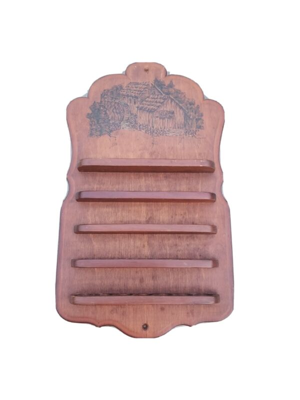 """Vintage Painted Thimble Wall Display Shelf Holds 35 Thimbles! 9.75"""" x 16.5"""""""