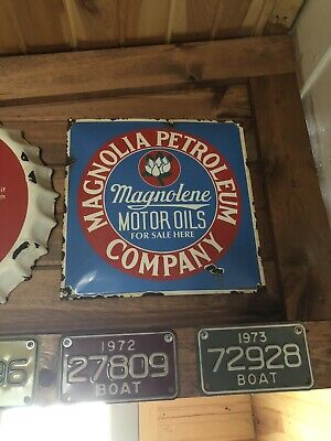 Vintage Porcelain Oil And Gas Sign Very Rare